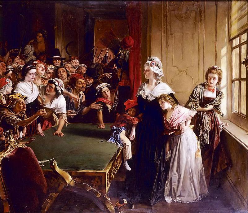 Королевская семья сталкивается с мятежниками. <br>