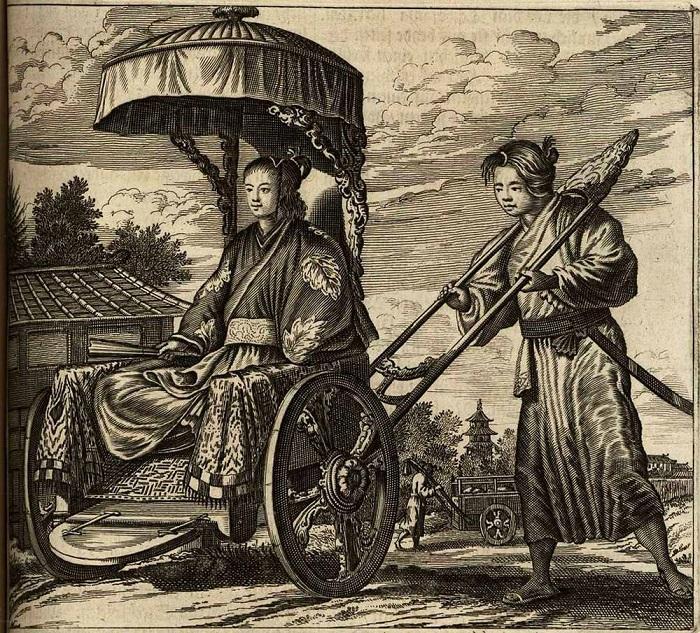 Японский рикша глазами голландского художника, который никогда не был в Японии.